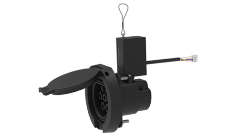 AC IEC 62196-2 2016 TYPE 2 Female Socket with lock